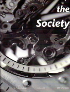The 2013 edition of The Society, from St. Peter's College, Muenster.