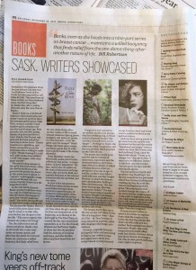 My book, Exile on a Grid Road, in the Spotlight in the Regina Leader Post