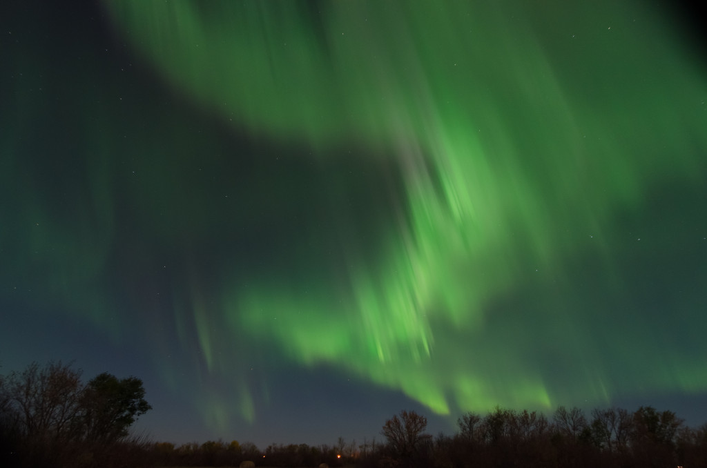 Aurora Borealis, near Muenster, SK